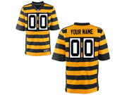 Mens Nfl Pittsburgh Steelers Custom Made Yellow Stripe Elite Jersey