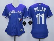 Women Mlb Toronto Blue Jays #11 Pillar Blue Majestic Jersey