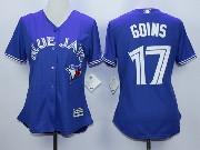 Women Mlb Toronto Blue Jays #17 Goins Blue Majestic Jersey