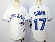 youth mlb toronto blue jays #17 goins white 2012 new style Jersey