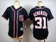 Youth Mlb Washington Nationals #31 Max Scherzer Blue Jersey