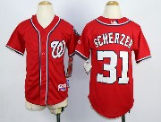Youth Mlb Washington Nationals #31 Max Scherzer Red Cool Base Jersey