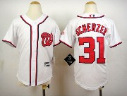 Youth Mlb Washington Nationals #31 Max Scherzer Cream Cool Base Jersey