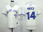 Women Mlb Toronto Blue Jays #14 Price White (2012 Majestic) Jersey