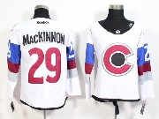 Mens Reebok Nhl Colorado Avalanche #29 Mackinnon White (2015) Jersey