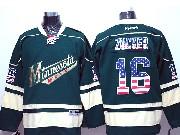 Mens Reebok Nhl Minnesota Wild #16 Zucker Green (usa Flag Fashion) Jersey