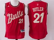 Mens Nba Chicago Bulls #21 Butler Red (2016 Christmas) Jersey