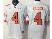 Mens Ncaa Nfl Clemson Tigers #4 Watson White Limited Jersey