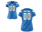 Women Nfl San Diego Chargers (custom Made) Light Blue Game Jersey