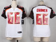 Women  Nfl Tampa Bay Buccaneers #66 Omameh White Game Jersey