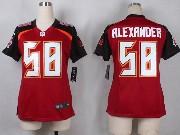 Women  Nfl Tampa Bay Buccaneers #58 Alexander Red Game Jersey