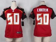 Women  Nfl Tampa Bay Buccaneers #50 Carter Red Game Jersey