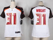 Women  Nfl Tampa Bay Buccaneers #31 Wright White Game Jersey