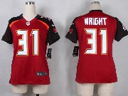 Women  Nfl Tampa Bay Buccaneers #31 Wright Red Game Jersey