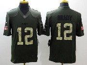 mens nfl New England Patriots #12 Tom Brady green salute to service limited jersey