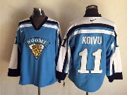 Mens nhl winnipeg jets #11 koivu blue throwbacks Jersey