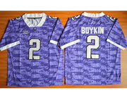 Mens Ncaa Nfl Tcu Horned Frogs #2 Boykin Purple Jersey