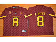 Mens Ncaa Nfl Arizona State Sun Devils #8 Foster Red Jersey