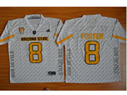 Mens Ncaa Nfl Arizona State Sun Devils #8 Foster White Jersey