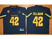 Mens Ncaa Nfl Arizona State Sun Devils #42 Tillman Dark Blue Jersey