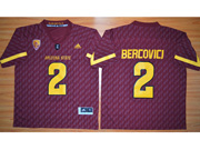 Mens Ncaa Nfl Arizona State Sun Devils #2 Bercovici Red Jersey
