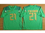 Mens Ncaa Nfl Oregon Ducks #21 Freeman Green (gold Number) Jersey