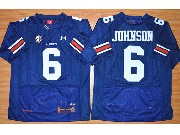 Mens Ncaa Nfl Auburn Tigers #6 Johnson Dark Blue Elite Jersey