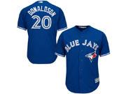 Mens Majestic Toronto Blue Jays #20 Josh Donaldson Royal Blue Cool Base Player Jersey