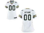 Women Nfl Green Bay Packers (custom Made) White Game Jersey