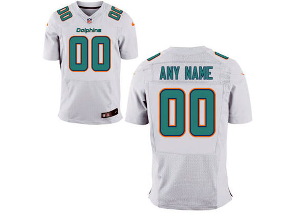 Nfl Miami Dolphins (custom Made) White Elite Jersey