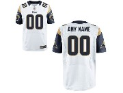 Nfl St. Louis Rams (custom Made) White Elite Jersey