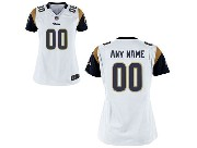 Women  Nfl St. Louis Rams (custom Made) White Game Jersey