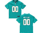 Kids Nfl Miami Dolphins (custom Made) Green Game Jersey