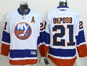 Mens reebok nhl new york islanders #21 okposo white Jersey
