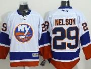 Mens reebok nhl new york islanders #29 nelson white Jersey