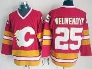 Mens reebok nhl calgary flames #25 nieuwendyk red throwbacks Jersey