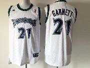 Mens Nba Minnesota Timberwolves #21 Garnett White Mesh Jersey