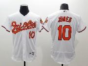 mens majestic baltimore orioles #10 adam jones white Flex Base jersey