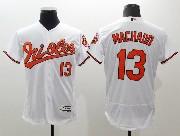 mens majestic baltimore orioles #13 manny machado white Flex Base jersey
