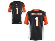 Mens Nfl Cincinnati Bengals #1 William Jackson Black Elite Jersey