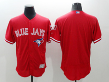 mens majestic toronto blue jays blank red Flex Base jersey