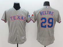 mens majestic texas rangers #29 adrian beltre gray Flex Base jersey