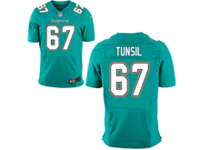 Mens Nfl Miami Dolphins #67 Laremy Tunsil Green Elite Jersey