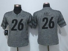 Women  Nfl Pittsburgh Steelers #26 Le'veon Bell Gray Limited Jersey