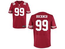 Mens Nfl San Francisco 49ers #99 Deforest Buckner Red Elite Jersey