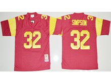 Mens Ncaa Nba Usc Trojans #32 O.j Simpson Red Jersey