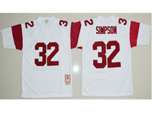 Mens Ncaa Nba Usc Trojans #32 O.j Simpson White Jersey