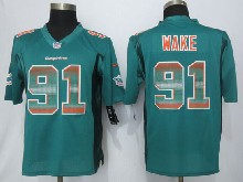Mens Nfl Miami Dolphins #91 Cameron Wake Green Strobe Limited Jersey