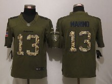 Mens Nfl Miami Dolphins #13 Dan Marino Green Salute To Service Limited Jersey