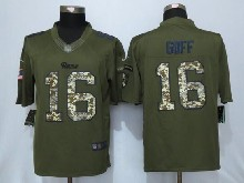 Mens Nfl St.louis Rams #16 Jared Goff Green Salute To Service Limited Jersey